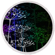 The Garden Of Your Mind Rainbow 1 Round Beach Towel