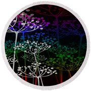 The Garden Of Your Mind Rainbow 2 Round Beach Towel