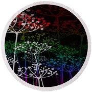 The Garden Of Your Mind Rainbow 3 Round Beach Towel