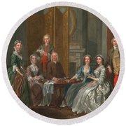 The Gascoigne Family, C.1740 Round Beach Towel