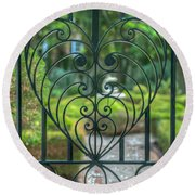 The Gate Keeper Round Beach Towel