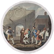 The Gate Of Calais, Or O The Roast Beef Round Beach Towel
