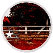 The Gate To Texas  Round Beach Towel