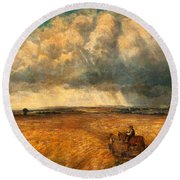 The Gathering Storm, 1819 Round Beach Towel by John Constable