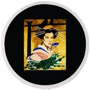 The Geisha Round Beach Towel