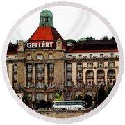 The Gellert Hotel Round Beach Towel