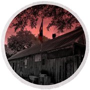 The General Store In Luckenbach Texas Round Beach Towel by Susanne Van Hulst