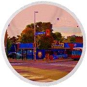 The Georgetown Sports Pub Soccer Bar Bank St The Glebe Paintings Of Ottawa Carole Spandau Artist Round Beach Towel