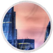 The Gherkin And The Cheesgrater London Round Beach Towel