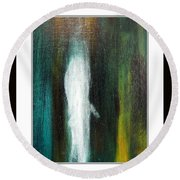 The Ghost In You Round Beach Towel