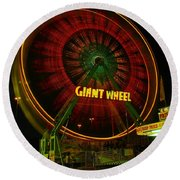 The Giant Wheel Spinning  Round Beach Towel