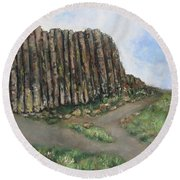 The Giant's Causeway Round Beach Towel