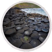 The Giant's Causeway - Staircase Round Beach Towel