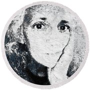 The Gingerbread Girl Round Beach Towel