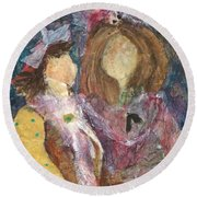 the Girls Round Beach Towel by Sherry Harradence