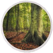 The Giving Tree Round Beach Towel