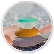 The Glass House Round Beach Towel