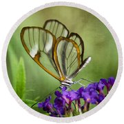 The Glasswing  Round Beach Towel