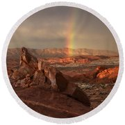 The Glory Of Sandstone Round Beach Towel