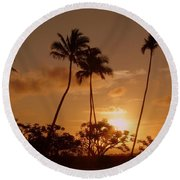 The Glow Of Sunset Round Beach Towel