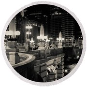 The Glow Over The River Round Beach Towel