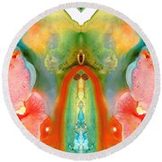 The Goddess - Abstract Art By Sharon Cummings Round Beach Towel