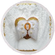 The Goddess Of The Golden Temple Round Beach Towel