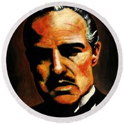 Godfather Round Beach Towel