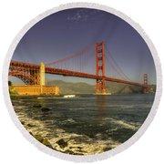 The Golden Gate Bridge Round Beach Towel