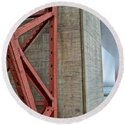 The Golden Gate - Fort Point View Round Beach Towel