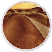 The Golden Hour Anza Borrego Desert Round Beach Towel