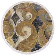 The Golden Ornaments Round Beach Towel