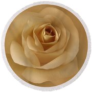 The Golden Rose Flower Round Beach Towel by Jennie Marie Schell