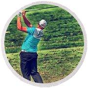 The Golf Swing Round Beach Towel