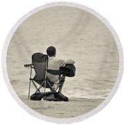 The Good Life Round Beach Towel