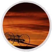 The Good Old Days Round Beach Towel by Bob Christopher