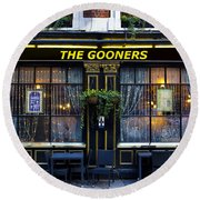 The Gooners Pub Round Beach Towel