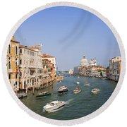 The Grand Canal, Venice Round Beach Towel