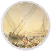 The Grand Canal, Venice Round Beach Towel