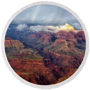 The Grand Canyon After The Storm Round Beach Towel