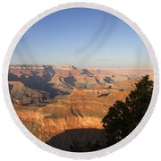 The Grand Canyon Towards Sunset Round Beach Towel