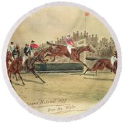 The Grand National Over The Water Round Beach Towel