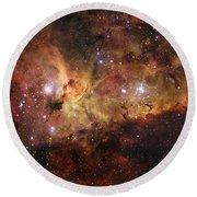 The Great Nebula In Carina Round Beach Towel