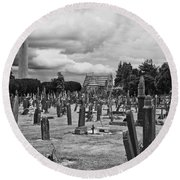 The Graves Round Beach Towel