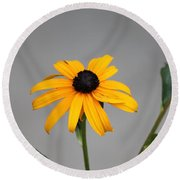 The Gray Day Of Yellow Round Beach Towel