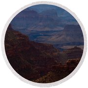 The Great Abyss Round Beach Towel
