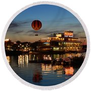 The Great And Powerful Oz Over Downtown Disney Round Beach Towel