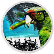 The Great Bird Of Casablanca Round Beach Towel