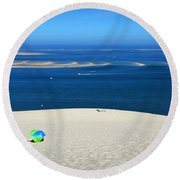 The Great Dune Of Pila In Arcachon Bay Round Beach Towel