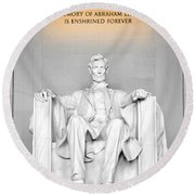 The Great Emancipator Round Beach Towel by Greg Fortier